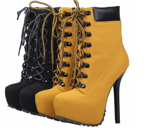 Ankle Yellow Boots