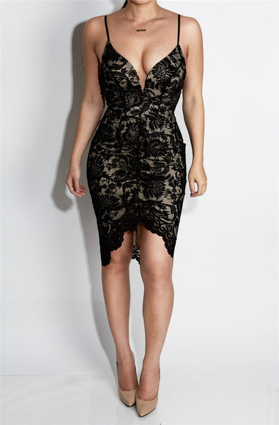 Lace Backless Dress - Awesome World - Online Store  - 3