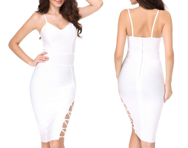 Marbella Lace Up Bandage Dress - Awesome World - Online Store  - 2