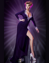 A-line Long Sleeves Purple Gown - Awesome World - Online Store  - 2