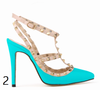 12 cm Heel Bright Rivets Pumps - 10 colors - Awesome World - Online Store  - 6