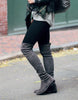 Kardash Grey Over Knee Boots - 2 Heel Sizes & 2 Models - Awesome World - Online Store  - 6