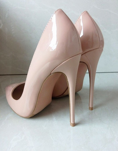 Shiny Nude Stiletto - 3 Heel Sizes - Awesome World - Online Store  - 1
