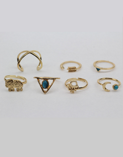 7 Pieces Ring Set - Awesome World - Online Store  - 2