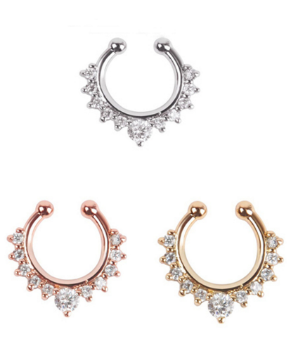 Nose Fake Piercing w/ Rhinestones - 3 colors - Awesome World - Online Store  - 4