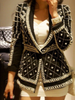 B Pearl Beading Black Blazer - Awesome World - Online Store  - 4