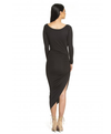Asymmetric Deep Open Neck Dress - 4 colors - Awesome World - Online Store  - 3