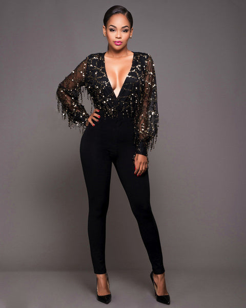 Sparkle Black Jumpsuit - Awesome World - Online Store  - 3