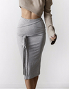 Knitted Straps Midi Skirt - Awesome World - Online Store  - 4