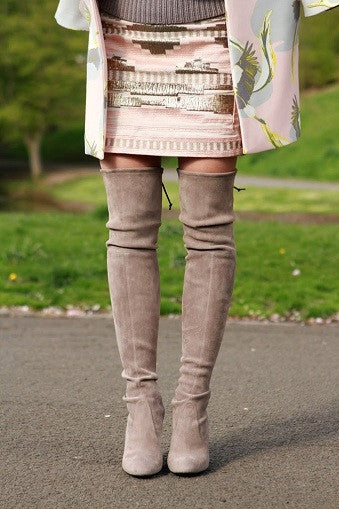 Kardash Khaki Over Knee Boots - 2 Heel Sizes - Awesome World - Online Store  - 9