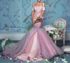 Cherry Rushed Couture Gown - Awesome World - Online Store  - 9