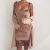 Soft Velvet Pink Classy Dress - Awesome World - Online Store  - 4