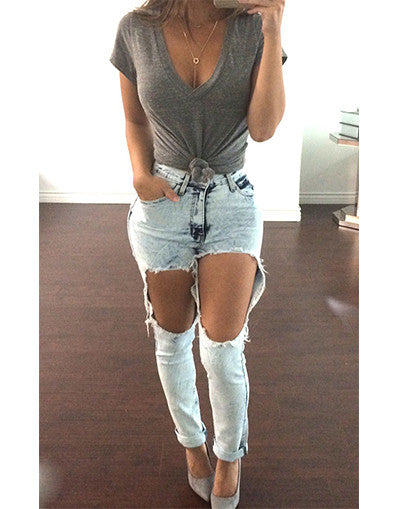 Ripped Trendy Jeans - Awesome World - Online Store