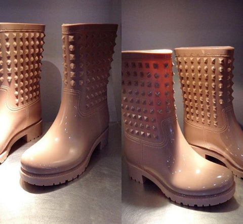 Rubber Billion Rivets Boots - 4 colors