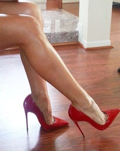 Shiny Red Stiletto - 3 Heel Sizes - Awesome World - Online Store  - 3