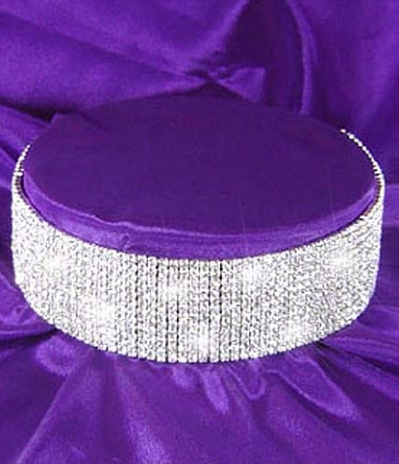 Rhinestone Choker - 12 rows - Awesome World - Online Store  - 2