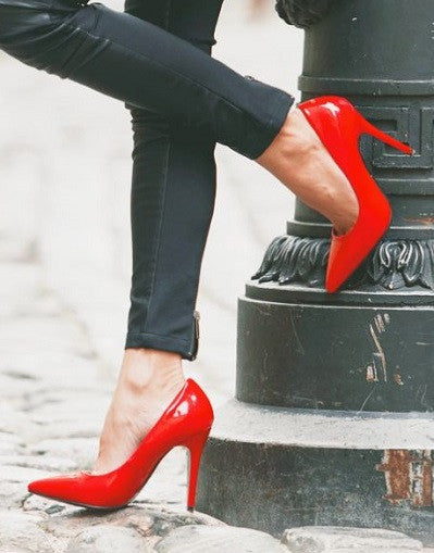 Shiny Red Stiletto - 3 Heel Sizes - Awesome World - Online Store  - 4