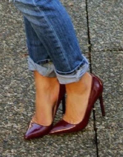Shiny Wine Red Stiletto - 3 Heel Sizes - Awesome World - Online Store  - 1
