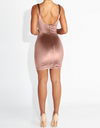 Soft Velvet Pink Classy Dress - Awesome World - Online Store  - 2