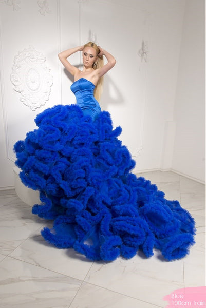 Mermaid Big Train Gown - 3 colors - Awesome World - Online Store  - 5