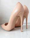 Matte Nude Stiletto - 3 Heel Sizes - Awesome World - Online Store  - 1