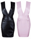 Latex Leather Inspired Lace Up Dress - Awesome World - Online Store  - 6