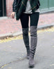 Kardash Grey Over Knee Boots - 2 Heel Sizes & 2 Models - Awesome World - Online Store  - 7