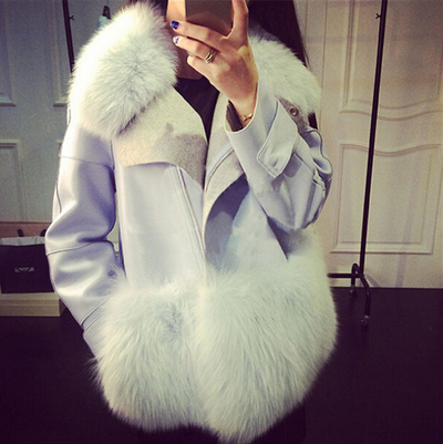 Aqua Blue Fur Jacket - Awesome World - Online Store  - 4