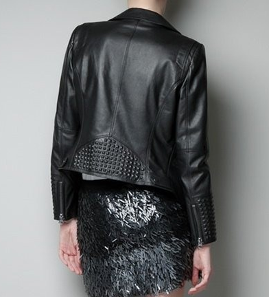 Black Rivets Leather Jacket - Awesome World - Online Store  - 4