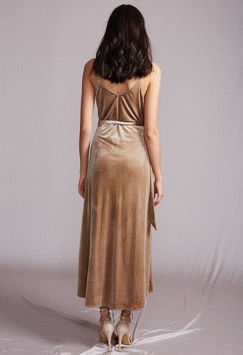Soft Velvet Split Dress - 3 colors - Awesome World - Online Store  - 3