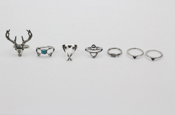 7 Pieces Ring Set - Awesome World - Online Store  - 3