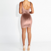 Soft Velvet Pink Classy Dress - Awesome World - Online Store  - 5