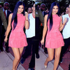 Kylie Pink Suede Dress - Awesome World - Online Store  - 2