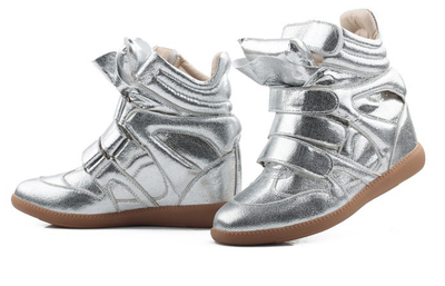 Wedge Sneakers - Metallic - Awesome World - Online Store  - 5