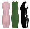 Side Lace Up Turtleneck Bandage Dress - 3 colors - Awesome World - Online Store  - 5