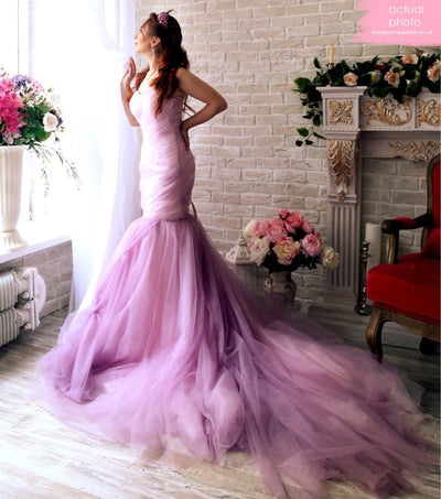 Cherry Rushed Couture Gown - Awesome World - Online Store  - 4