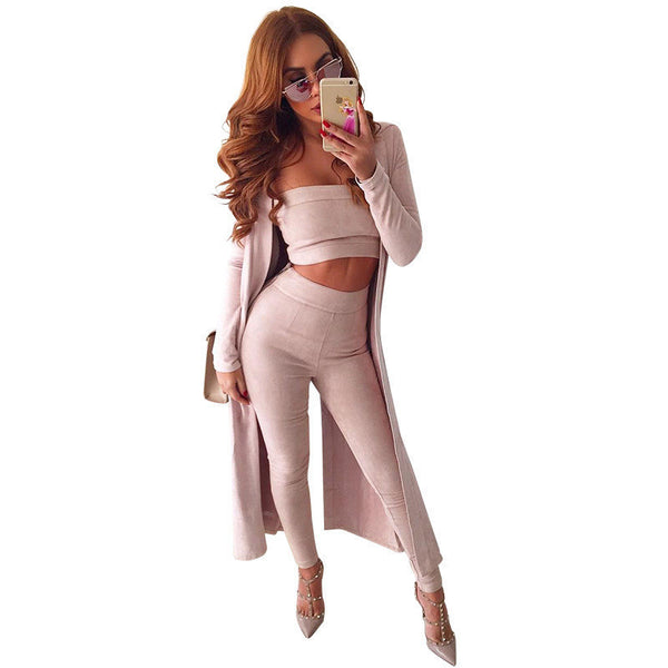 Velvet Khaki Jumpsuit Set - Awesome World - Online Store  - 3