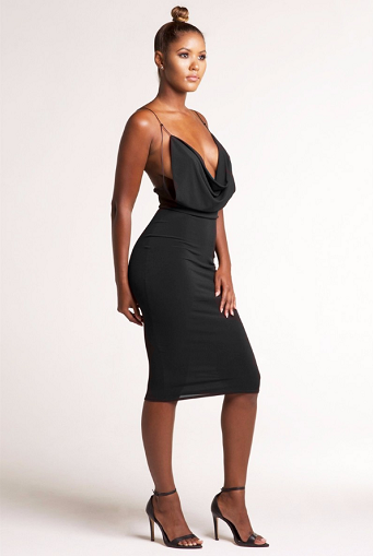 Fatale Backless Dress - Awesome World - Online Store  - 3