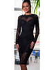 Strappy Backless Black Lace Dress - Awesome World - Online Store  - 3
