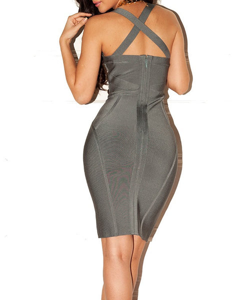 Kylie Grey Bandage Dress - Awesome World - Online Store  - 3