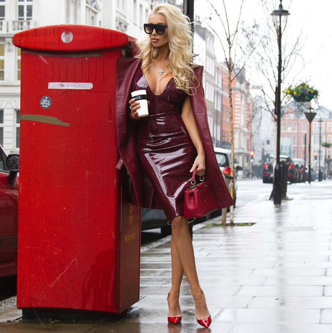Latex Love Sweetheart Dress - Black or Wine