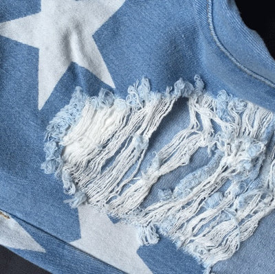 Ripped Stars Boyfriend Jeans - Awesome World - Online Store  - 3