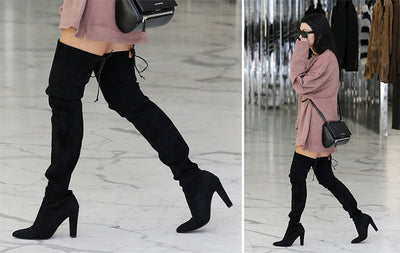 Kardash Black Over Knee Boots - 2 Heel Sizes & 2 Models - Awesome World - Online Store  - 10