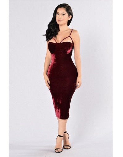 Velvet Bustier Dress - Awesome World - Online Store  - 1