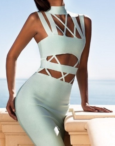 Cut Out Strappy Bandage Dress - 3 colors - Awesome World - Online Store  - 3