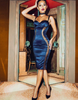 Satin Sensuous Dress - Blue & Red - Awesome World - Online Store  - 1