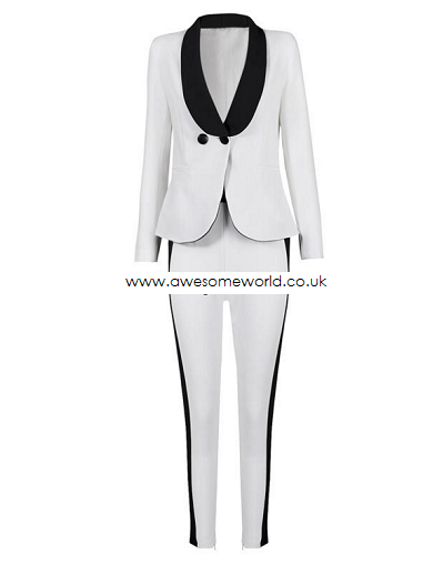 Premium Cara Kendall Jacket+Pants Pantsuit Set - Awesome World - Online Store  - 6