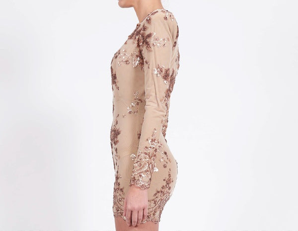 Glam Edition - Lace Up Neck w Sequins Dress - Awesome World - Online Store  - 5