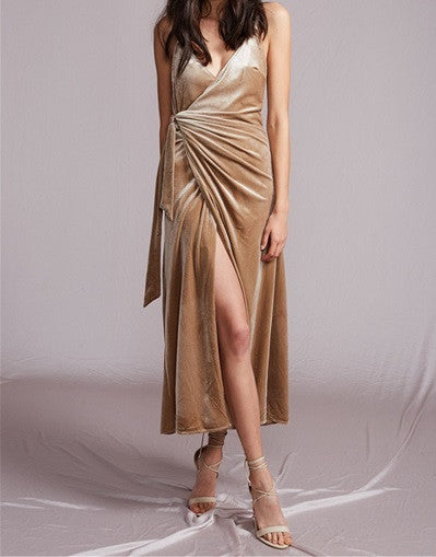 Soft Velvet Split Dress - 3 colors - Awesome World - Online Store  - 2
