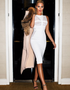 Mesh Snow Bandage Dress - Awesome World - Online Store  - 4